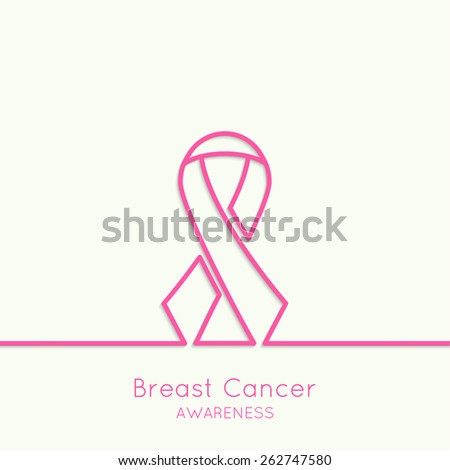 Breast Cancer Awareness Ribbon. vector icons. pink. Outline. minimal.  - stock vector