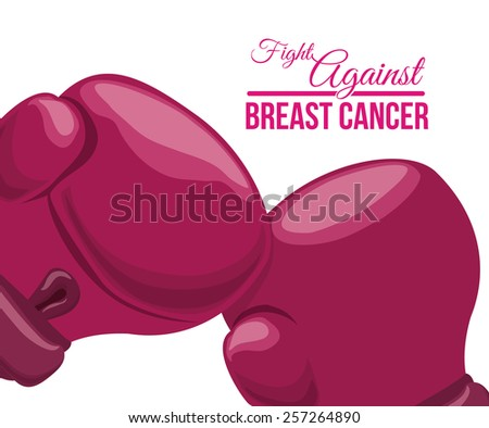 Breast cancer design over white background ,vector illustration. - stock vector