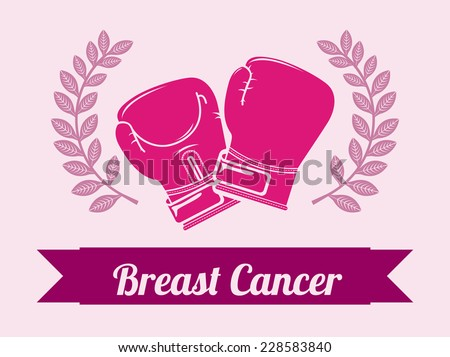 breast cancer graphic design , vector illustration - stock vector