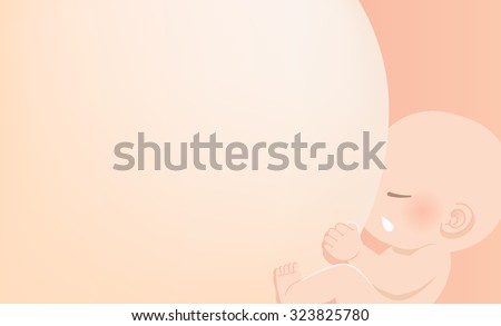 Breast feeding concept- Baby is sucking breast