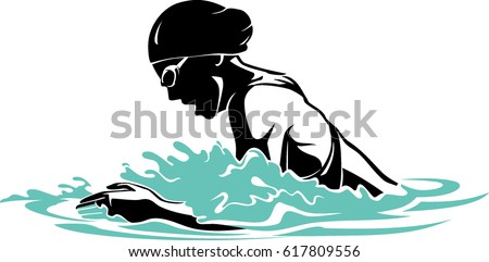 breast stroke woman swimmer stock photo photo vector illustration rh shutterstock com Cartoon Swimmer Clip Art Swim Cap Clip Art