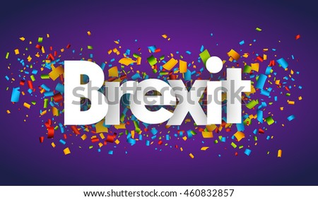 brexit vector banner sign