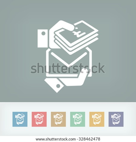 Bribe icon - Sterling - stock vector