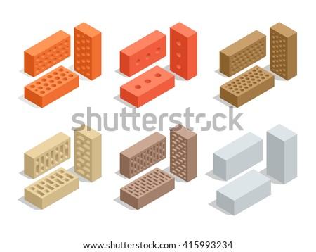 Brick icon. Brick icon set. Brick icon web. Brick icon new. Brick isolated. Brick icon app. Brick icon big. Brick icon best. Brick icon site. Brick icon sign. Brick icon image. Brick icon color - stock vector