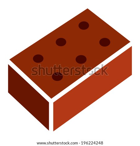 Brick - red brick isolated on a white background - stock vector