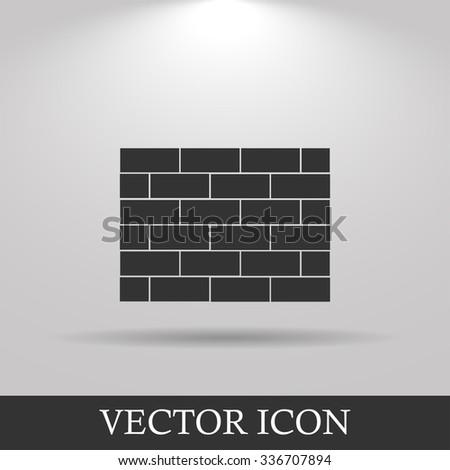 Brick Vector icon. Flat design style eps 10 - stock vector