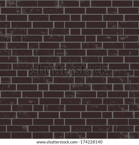 Brick wall background. - stock vector