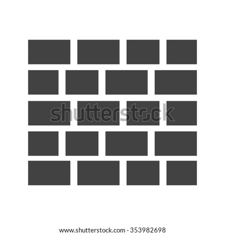 Brick, wall, background icon vector image.Can also be used for housing. Suitable for mobile apps, web apps and print media.
