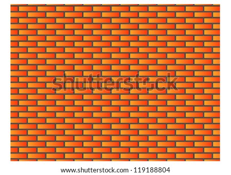 brick wall background texture - stock vector