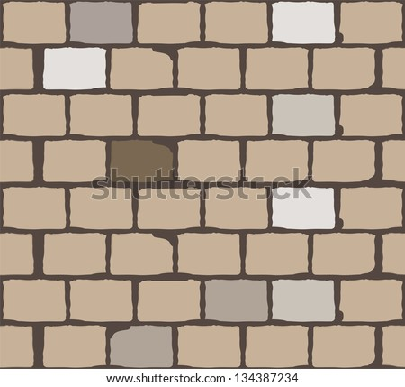 brick wall. background. vector - stock vector