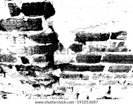 Brick Wall Grunge Urban Background.Texture Vector.Dust Overlay Distress Grain ,Simply Place smudge illustration over any Object to Create rough  Effect .Black paint splattered , dirty design element