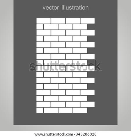 brick wall icon. vector illustration - stock vector