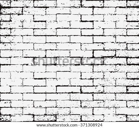 Brick wall overlay Grunge Seamless texture, Abstract Black and White Distress Texture. Scratch Rust Background, Rubber Stamp - stock vector