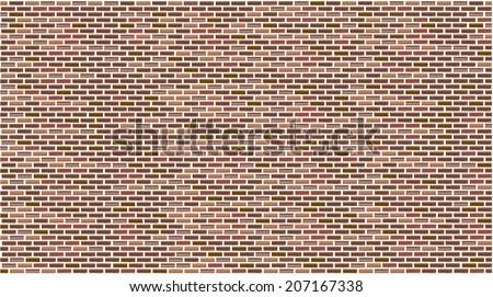 brick wall seamless Vector illustration background - stock vector