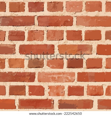 Brick wall texture background, vector illustration. - stock vector