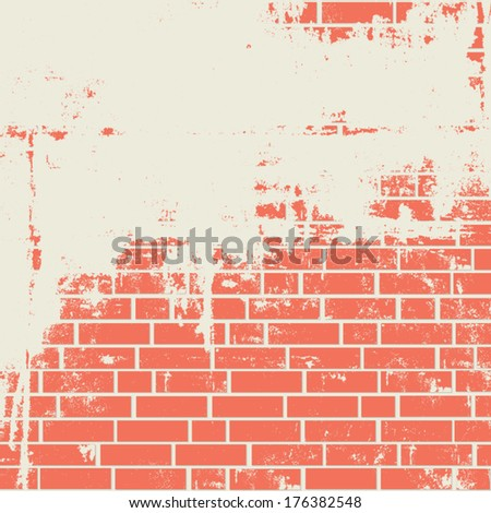 Brick wall texture. Vector background