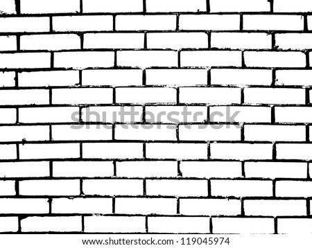 brick wall. vector illustration - stock vector