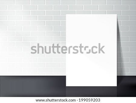 brick wall with white frame