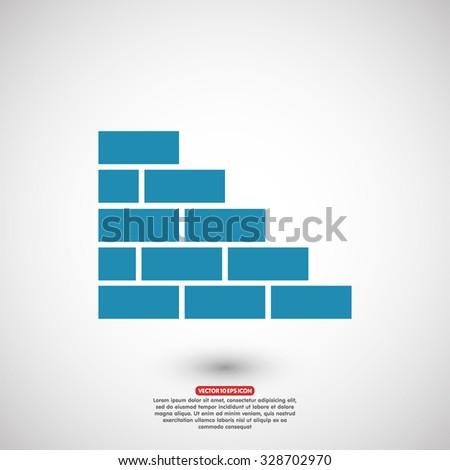 bricks icon  - stock vector