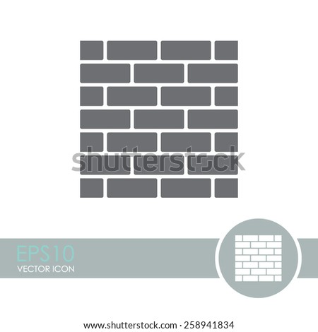 Brickwork vector icon. - stock vector