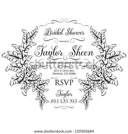Bridal invitation - stock vector
