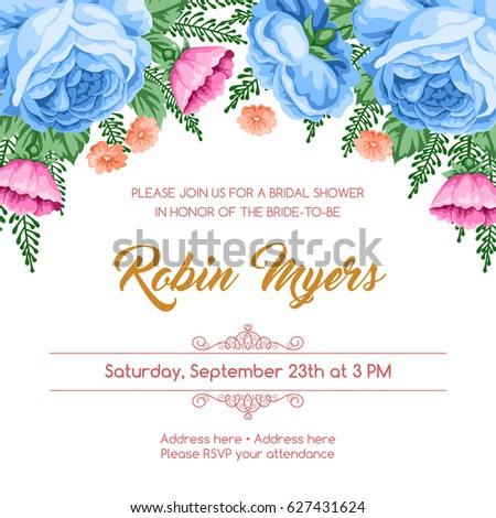 bridal shower invitation templates