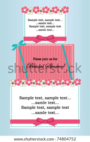 Bridal shower pink - stock vector