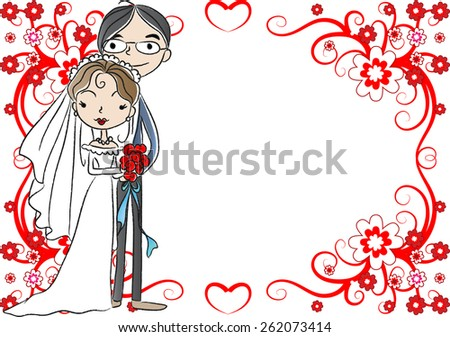 bride and groom in the blank blank background