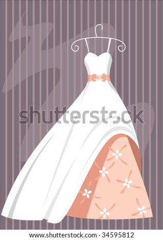 bride dress - stock vector