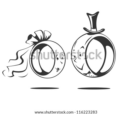 wedding rings vector stock images royalty free images vectors