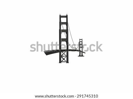 Bridge - stock vector