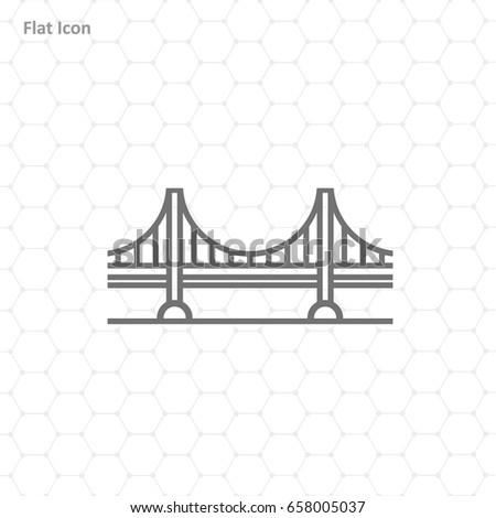 Bridge Icon isolated on background. Modern flat pictogram