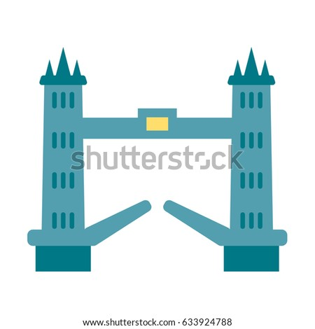 bridge london icon flat vector isolated building sights vector travel sightseeing city guide world travel agency europe england tourism icons