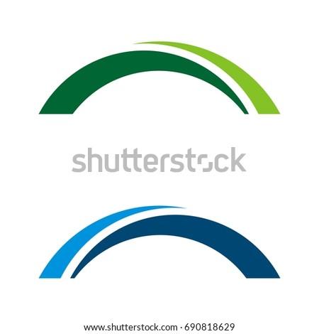 bridge swoosh logo template stock vector 690818629 shutterstock rh shutterstock com swoosh logo meaning swoosh login