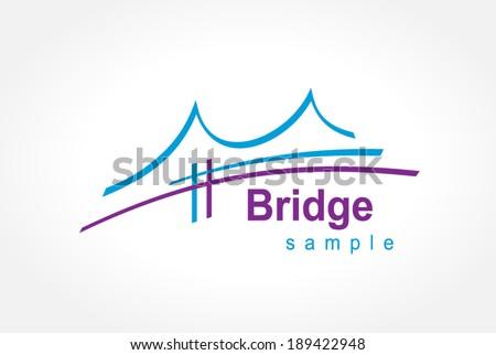 bridge symbol emblem sign - stock vector