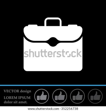 briefcase icon - stock vector