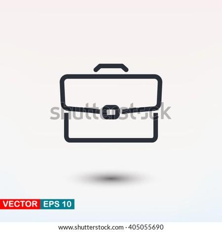 Briefcase icon, Briefcase icon eps, Briefcase icon art, Briefcase icon jpg, Briefcase icon web, Briefcase icon ai, Briefcase icon app, Briefcase icon flat, Briefcase icon logo, Briefcase icon sign - stock vector