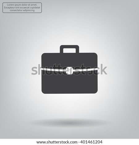 Briefcase icon, vector illustration.  - stock vector