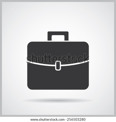 Briefcase icon, vector illustration. Flat design style - stock vector