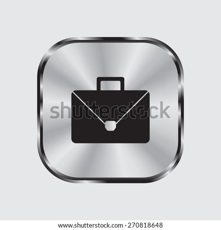 Briefcase icon, vector illustration. Flat design style - stock vector