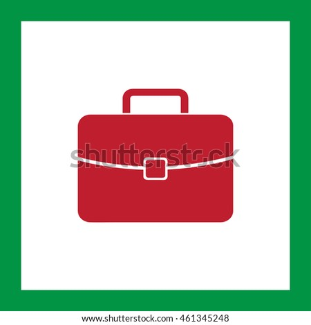 Briefcase icon, vector illustration. Flat design style.