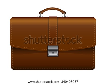 Briefcase on a white background. Vector illustration.