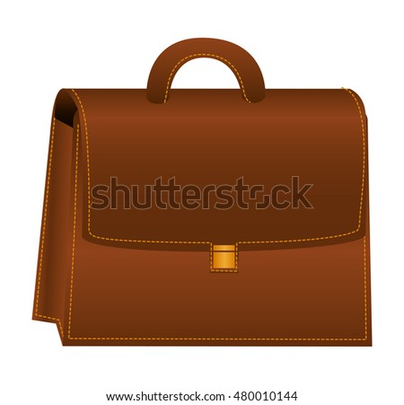 briefcase portfolio isolated icon vector illustration design
