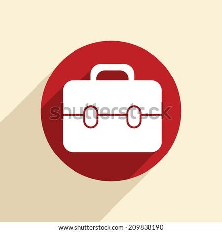 briefcase symbol - stock vector