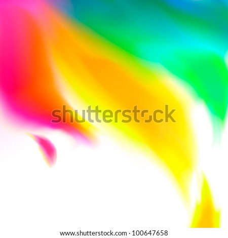 Bright abstract background with colorful watercolor swirl  - vector illustration for your business presentations. - stock vector