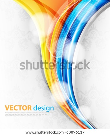 Bright abstract design - stock vector