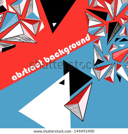 bright abstract graphic background with geometric elements