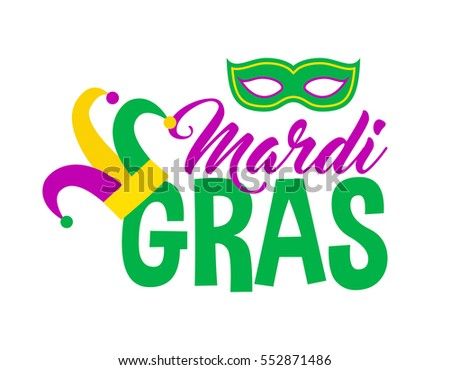 Bright Abstract Mardi Gras Lettering On Stock Vector ...
