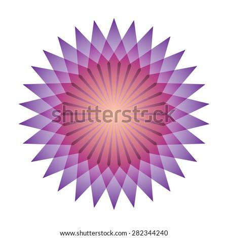 Bright abstract mosaic star. Logo rainbow mandala. Vector illustration. - stock vector