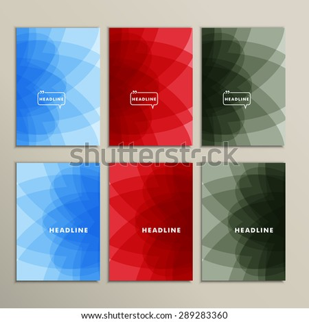 bright abstract pictures on a grey background. - stock vector